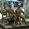 Памятник Остапу Бендеру и Шуре Балаганову в Парке Шмидта. Весьма символично...