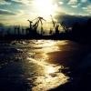 Красивый пейзаж вечернего Бердянского порта...